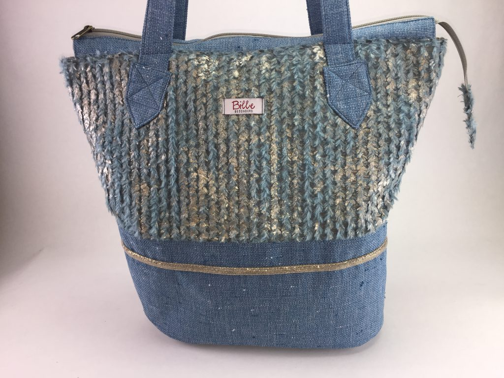 Shopper bleu/gold Image
